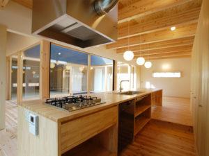 オリジナルキッチン 造作 木目
