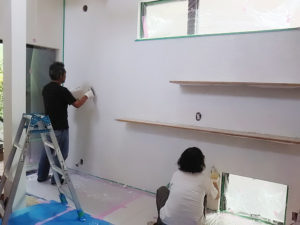 調湿 壁 漆喰 DIY 塗り壁