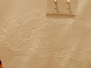 漆喰 壁 手形 思い出 リフォーム