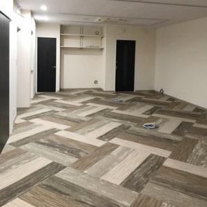 オフィス 床材 カーペットタイル タジマ 模様貼り