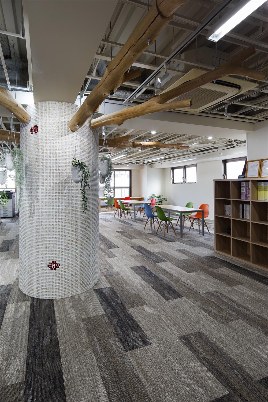 オフィス 床 カーペット 模様貼 改装 新装 オフィスデザイン