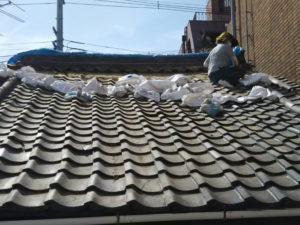 台風 屋根瓦 補修工事 葺き替え
